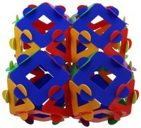 Four connected cuboctahedra