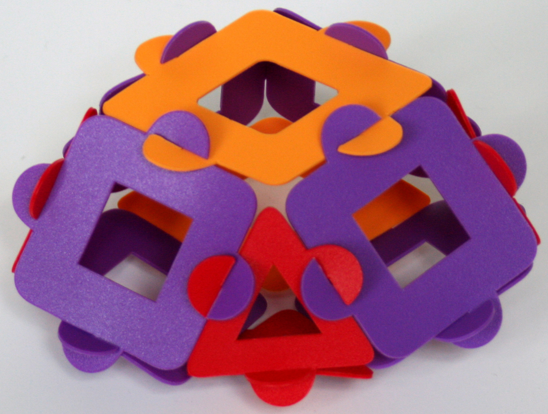 Twice reduced tetrahedrally expanded rhombic dodecahedron